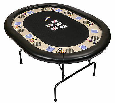 Riverboat P8 Poker Table with Black Speed Cloth Folding Legs 152cm (B Grade)