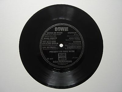 "David Bowie -1974 7"" Flexi 45 - Free With Record Mirror - Ex"