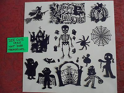 Tattered Lace Halloween Die Cuts(D48),witch,spider,haunted House,ghost,skeleton