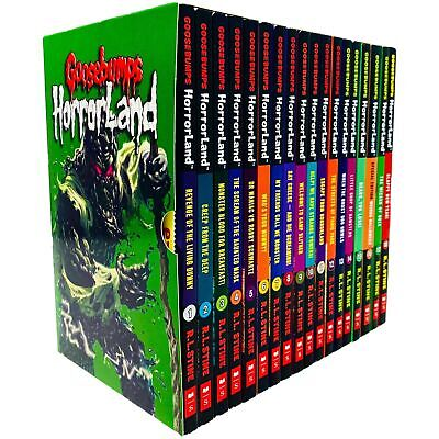 Goosebumps Horrorland Series Collection R L Stine 18 Books Box Set Slipcase NEW