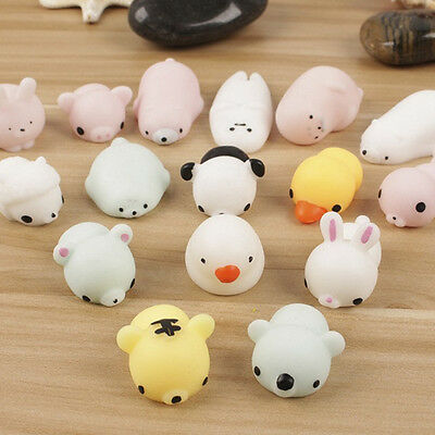 Cute Novelty Cartoon Animal Doll Rubber Toys Stress Relief Therapy Vent Ball Toy