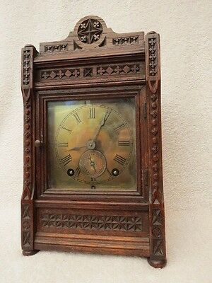 Antique Winterhalder & Hofmeier Camerer Kuss Alarm Bracket Clock For Repair