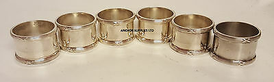 6 x Genuine RAF Royal Air Force Napkin Rings x 6 Officers Mess (A395)