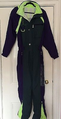Northwave Retro VIntage 80s 90s Purple Ski Suit All In One Stag Hen Men's Size S