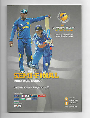 2013 ICC Champions Trophy Semi-Final - INDIA v. SRI LANKA official programme