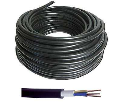 NYYJ Hi-Tuff Outdoor Black 3 Core PVC Cable Ponds Lighting 1.5mm 2.5mm 4mm 6mm