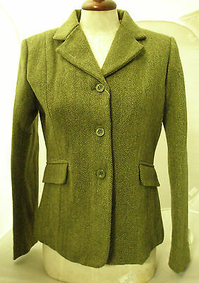 Sherwood Campolino Girls Olive Green HerringboneTweed show Jacket