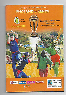 2007 ICC Cricket World Cup (Group Stage) - ENGLAND v. KENYA official programme