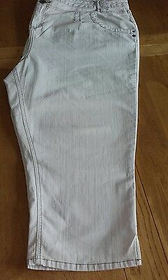 Evans Cropped Trousers size 26 pale denim