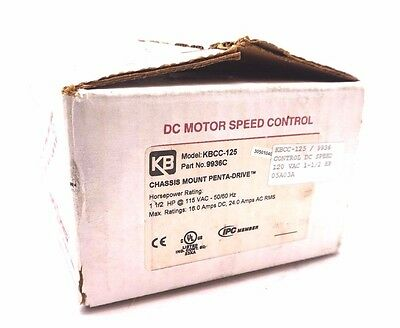 New Kb Electronics Kbcc-125 Motor Speed Controller 9936C Kbcc125