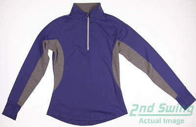 New Womens Footjoy Golf 1/2 Zip Pullover Small S Purple MSRP $80