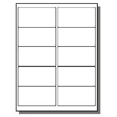 """10,000 Economy Laser/Inkjet Labels 2 x 4"""" 10 Per Page Uses 10 UP Template"""