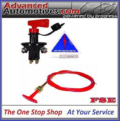 FIA Approved Competition Battery Cut Off Kill Master Switch With 1.8m Pull Cable