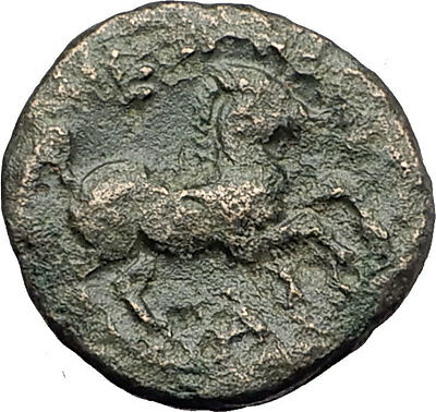 ALEXANDER III the GREAT Lifetime 336BC Ancient Greek Coin APOLLO & HORSE i62153