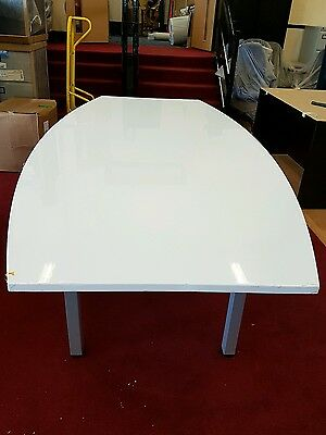 High Gloss White Conference Meeting Boardroom table.   2400mm x 1200mm.