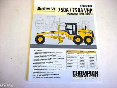 Champion 750A/750A VHP Motor Graders Color Literature                         b2