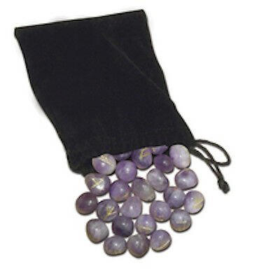 Amethyst Runes Set with Bag & Instructions!