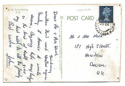 1969 Hong Kong Card to Devon British Forces Field Post Office 80 Postmark