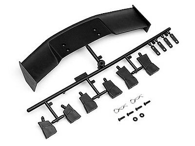 Hpi 85288 Gt Wing Set (Type D/10Th Scale/black) [1/10 Touring Car Wings] New!