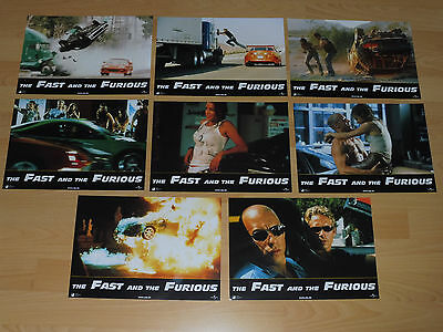 THE FAST AND THE FURIOUS - 8 lobby cards ´01 - VIN DIESEL Paul Walker