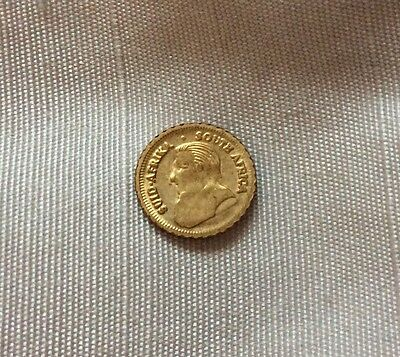 T-SOUTH AFRICA,MINIATURE KRUGERRAND ,10 MM,0.5 gram.BRILLIANT UNCIRCULATED.