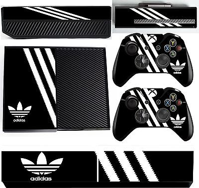 adidas BLACK & WHITE xbox one skins decals stickers + kinect + 2 cont