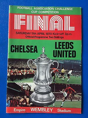 "FA CUP FINAL ""CHELSEA VS LEEDS UNITED"" SATURDAY 11th APRIL 1970 PROGRAMME"