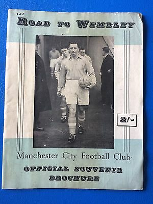 """Manchester City Fc Official Souvenir Brochure """"the Road To Wembley"""" Fa Cup 1955"""