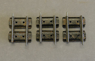 Vintage Hornby O Gauge 2 Rail (Clockwork) Quarter (1/4) Straights x3