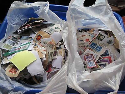 Charity Donation - Totally Unsorted 200 grams of Worldwide Stamps