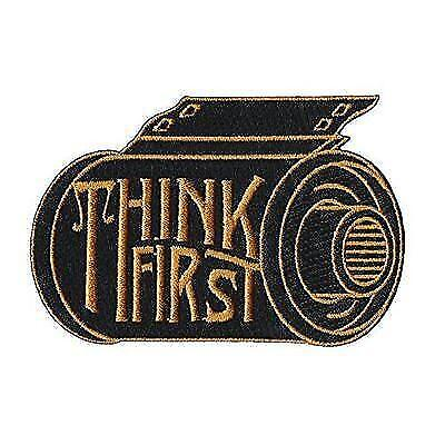 Asilda Store Think First Camera Film Roll Embroidered Sew or Iron-on Patch New