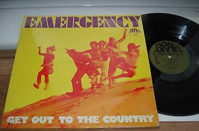 Emergency Get Out To The Country NICE AUDIO!! ORIGINAL GREEN BRAIN 1973 LP