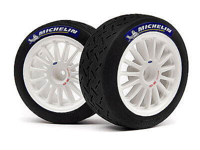 Hpi Wr8 Flux Ken Block Fiesta  110697 Mounted Tarmac Tyre/wheel Set White/2Pcs