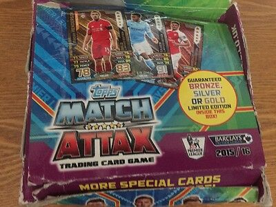 Match Attax 2015/16 Full Box Of 50 Sealed Packets