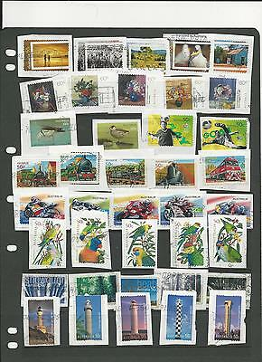 9 sets of Australian S/A Stamps on paper (27)