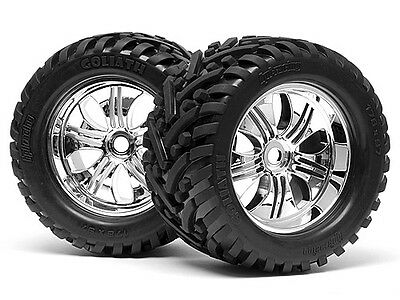 Hpi Savage Flux Hp Gt-2 4728 Mounted Goliath Tyre 178X97Mm On Tremor Wheel Chrom
