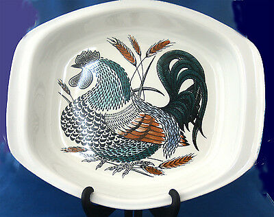 Poole Pottery Robert Jefferson Lucullus Cockerel Chicken Roasting Dish