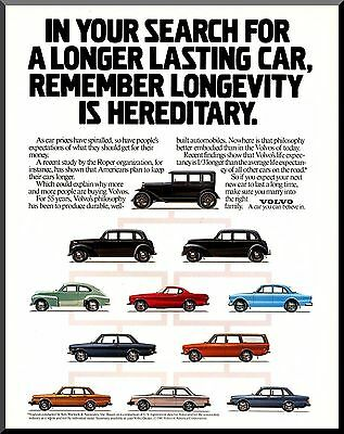 VOLVO, 55 Years of Cars, Longevity is Hereditary! 1981 VINTAGE PRINT AD