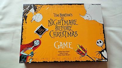 Sealed New Tim Burton's The Nightmare Before Christmas Board Game