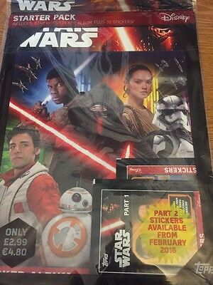 Star Wars Force Attax stickers Part 1&2 100 SEALED PACKETS & ALBUM