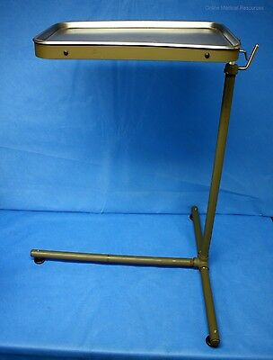 Brenner Military Field Mayo Instrument Stand w/ Vollrath Stainless Tray NOS
