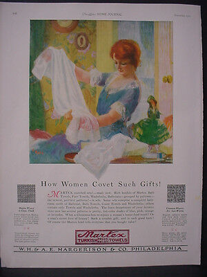 1922 Martex Turkish Towels W H & A E Margerison Philly Vintage Print Ad 12069