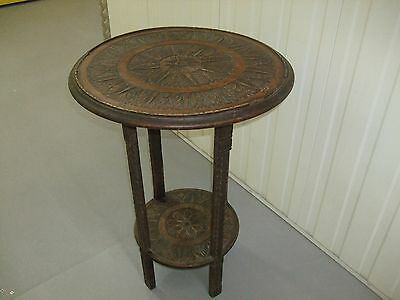 19Th Century Mahogany Carved Plant Or Side Table