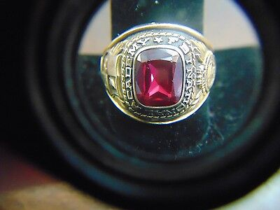 Large 10K Solid Gold 1971 Fbi National Academy College Graduate Ring 15.8 Grams