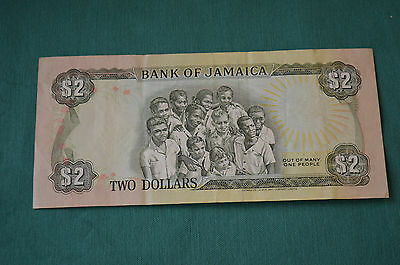 A Single Bank of Jamaica Two Dollar Banknote (1/2/1993) in a nice condition