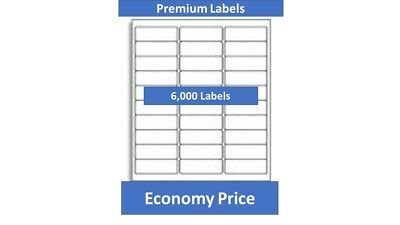 "6,000 Laser/Ink Jet Labels,1"" x 2-5/8""  30 up Address Compatible"