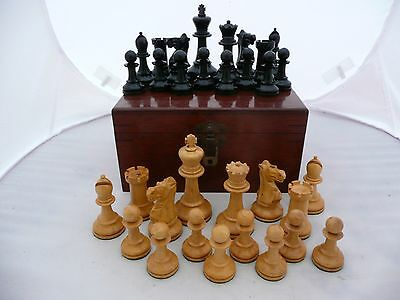 Rare Antique Original Boxed Jaques Broadbent Staunton Weighted Chess Set C1930