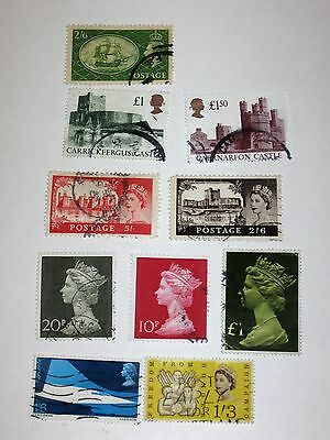 Uk 10 High Value Stamps To 1.50L