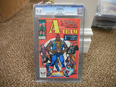 The A-Team 1 cgc 9.8 Mr T BA Baracus Face Hanibal WHITE pages 1984 Marvel TV