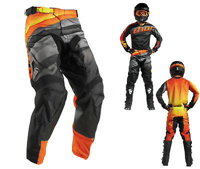 Thor Crosshose Pulse Velow MX Hose Motocross Enduro schwarz orange 32